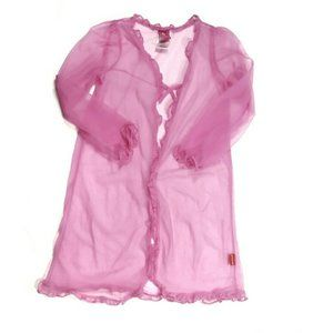 Sz 8 Hello Kitty Sheer Pink Dressing Gown